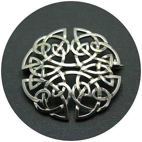 Silver Celtic Brooch C54
