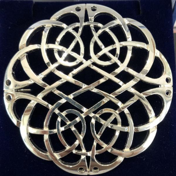 Mithril Silver Celtic Brooch KB2-Ogham Jewellery