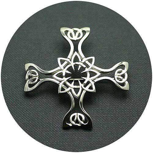 Mithril Silver Celtic Brooch St Columbo-Ogham Jewellery