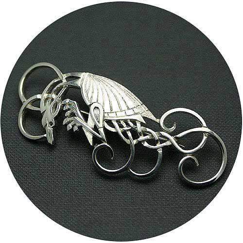 Mithril Silver Celtic Brooch Z16-Ogham Jewellery