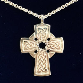 Mithril Silver Celtic Cross - KELLS-Ogham Jewellery