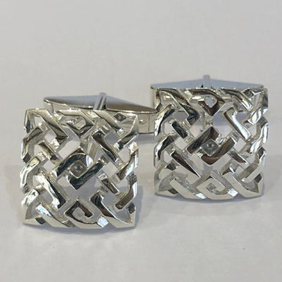 Mithril Silver Celtic Cufflinks C42-Ogham Jewellery