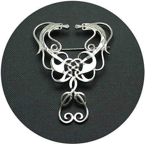 Mithril Silver Celtic Brooch 057B-Ogham Jewellery