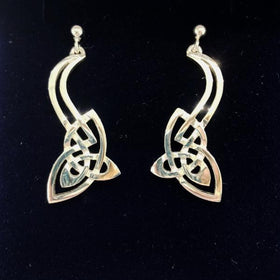 Mithril Silver Celtic Earrings C48-Ogham Jewellery