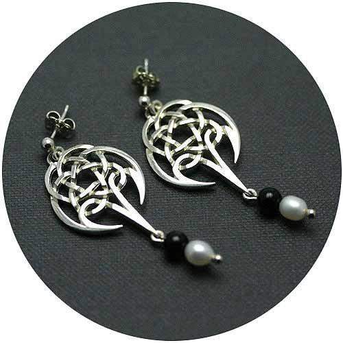 Mithril Silver Celtic Earrings C86-Ogham Jewellery