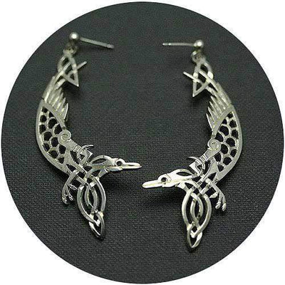 Mithril Silver Celtic Earrings Z12-Ogham Jewellery