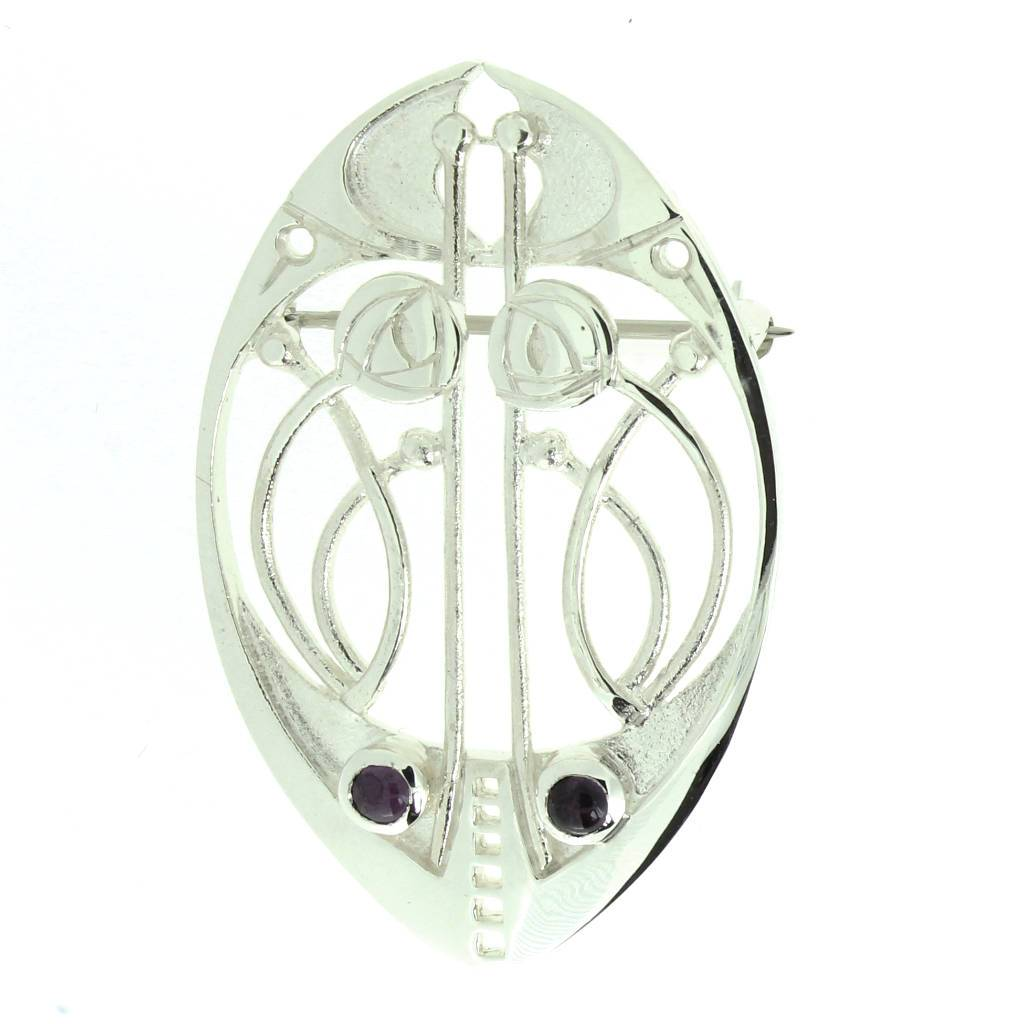 Mithril Silver Celtic Mackintosh Brooch CRM-Ogham Jewellery