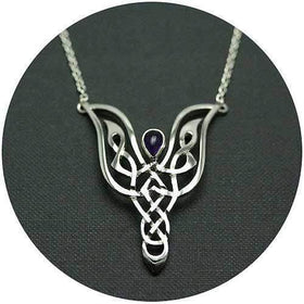 Mithril Silver Celtic Necklace CA1-Ogham Jewellery