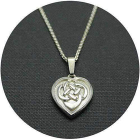 Mithril Silver Celtic Necklace HEART-Ogham Jewellery