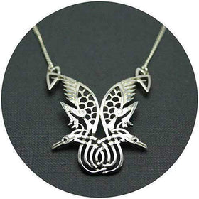 Mithril Silver Celtic Necklace Z11-Ogham Jewellery