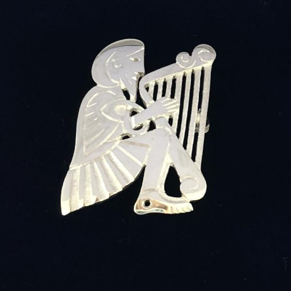 Mithril Silver Harper Brooch-Ogham Jewellery