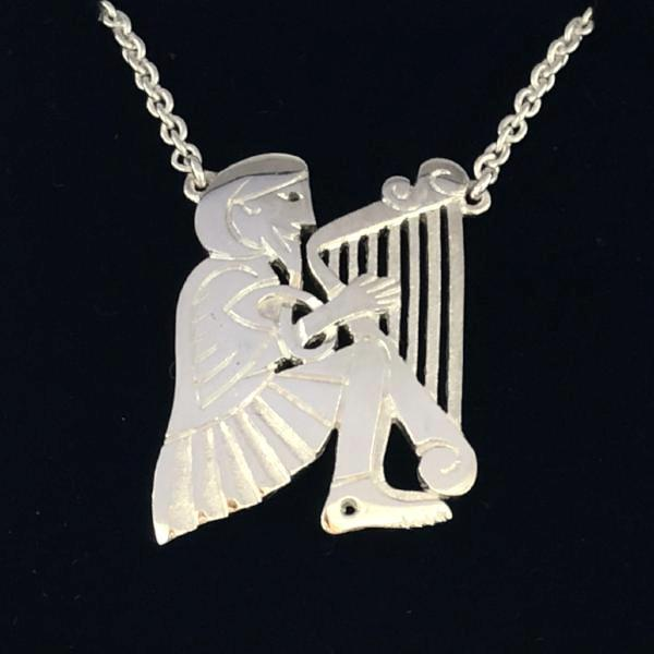 Mithril Silver Harper Necklace-Ogham Jewellery