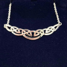 Mithril Silver or Gold Celtic Necklace C64-Ogham Jewellery