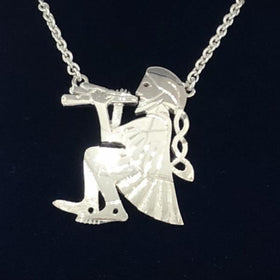 Mithril Silver Piper Necklace-Ogham Jewellery