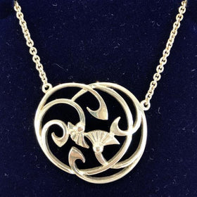 Mithril Silver Thistle Necklace T1-Ogham Jewellery