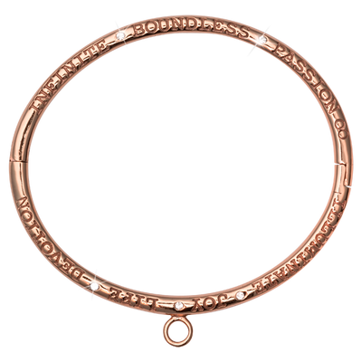 Nikki Lissoni Charm Bangle - B1071RG21-Ogham Jewellery