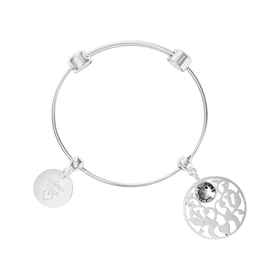Nikki Lissoni Charm Bangle - B1081S-Ogham Jewellery