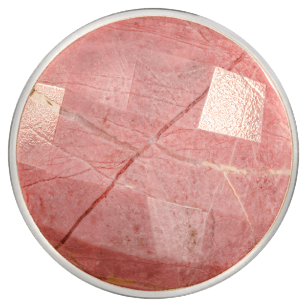 Faceted Rhodonite Coin - C1366SL