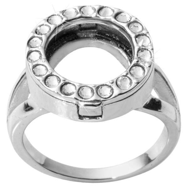 Nikki Lissoni Silver Plated Coin Ring R1004S-Ogham Jewellery
