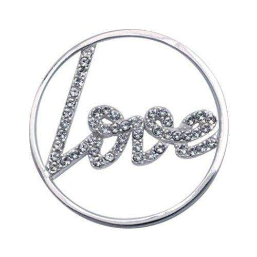 Nikki Lissoni Sparkling Love Coin C1003SM-Ogham Jewellery