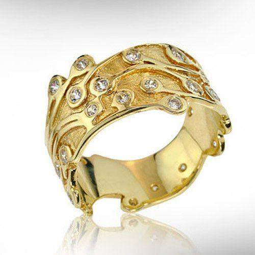 Nurit Levak 9ct Gold Designer Ring-9KGLD-Ogham Jewellery
