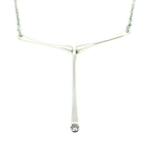 Ortak 9ct White Gold & Diamond Necklace - WDN11-Ogham Jewellery