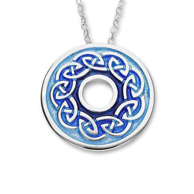 Ortak Celtic Silver and Enamel Pendant -EP403-Ogham Jewellery