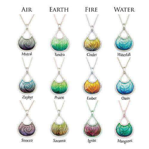 Enamel and Silver Ignite Necklace EN100