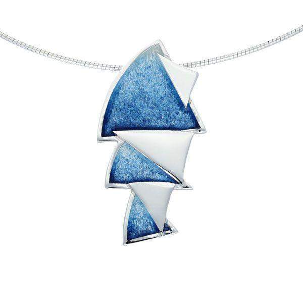 Enamel and Silver Ignite Necklace EP352