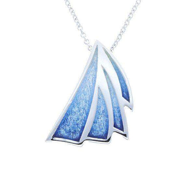 Ortak Enamel and Silver Ignite Pendant EP354-Ogham Jewellery