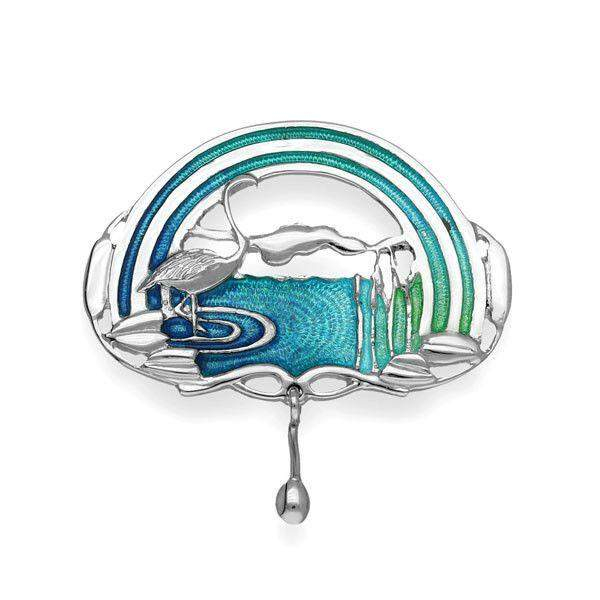 Ortak Silver and Enamel Brooch EB729-Ogham Jewellery