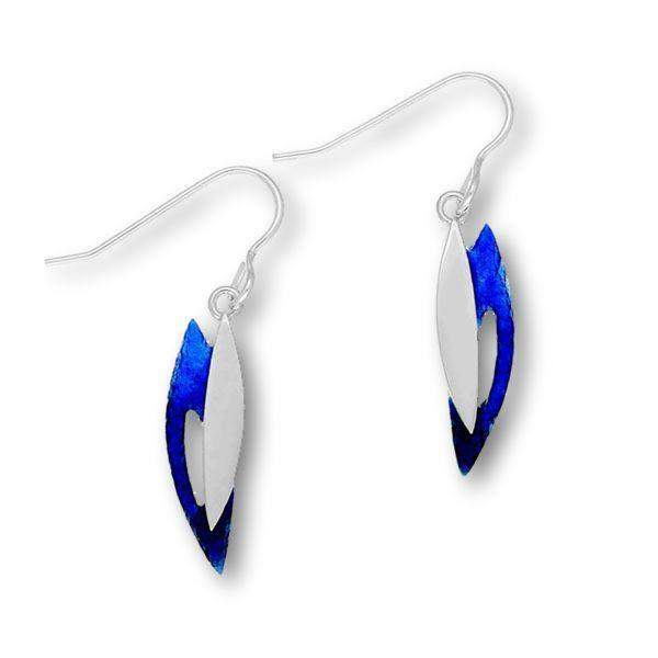 Ortak Silver and Enamel Drop Earrings EE403-Ogham Jewellery