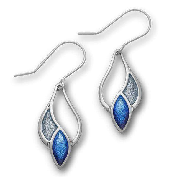 Ortak Silver And Enamel Earrings - EE346-Ogham Jewellery