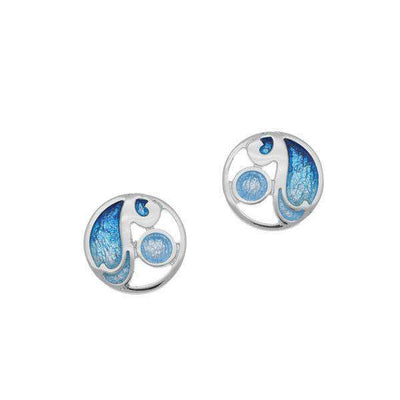Ortak Silver and Enamel Earrings EE395-Ogham Jewellery