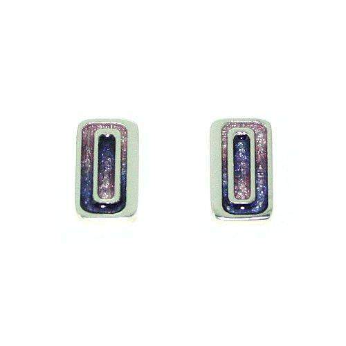 Ortak Silver And Enamel Earrings -EE455-Ogham Jewellery