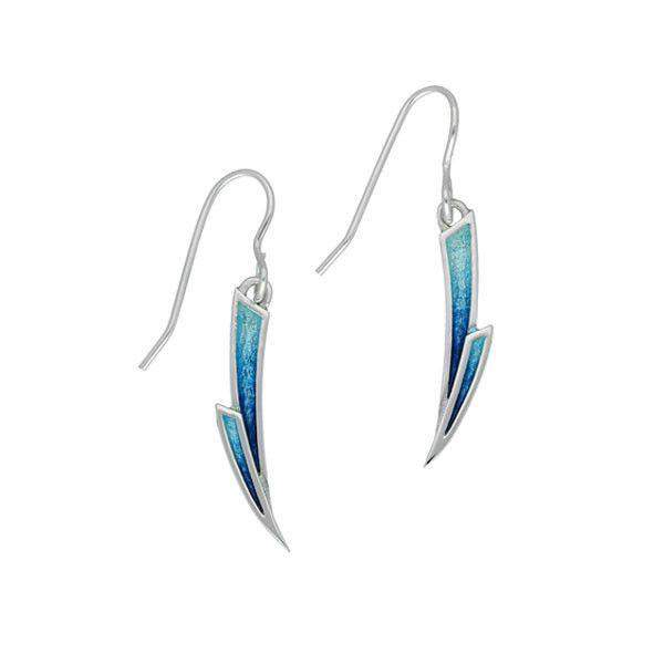 Ortak Silver and Enamel Earrings EE473-Ogham Jewellery