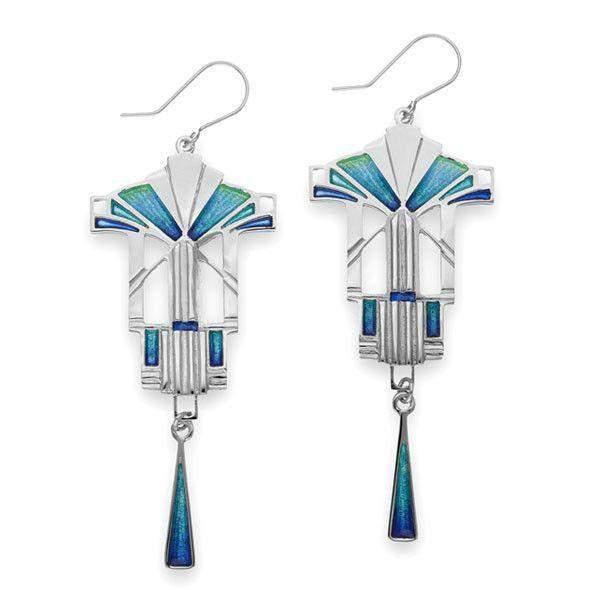 Ortak Silver And Enamel Earrings EE713-Ogham Jewellery