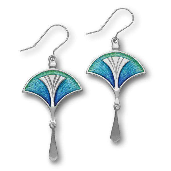 Ortak Silver And Enamel Earrings EE764-Ogham Jewellery