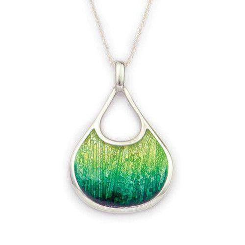 Ortak Silver And Enamel Earth Pendant (3 Colour Options) - EP294-Ogham Jewellery