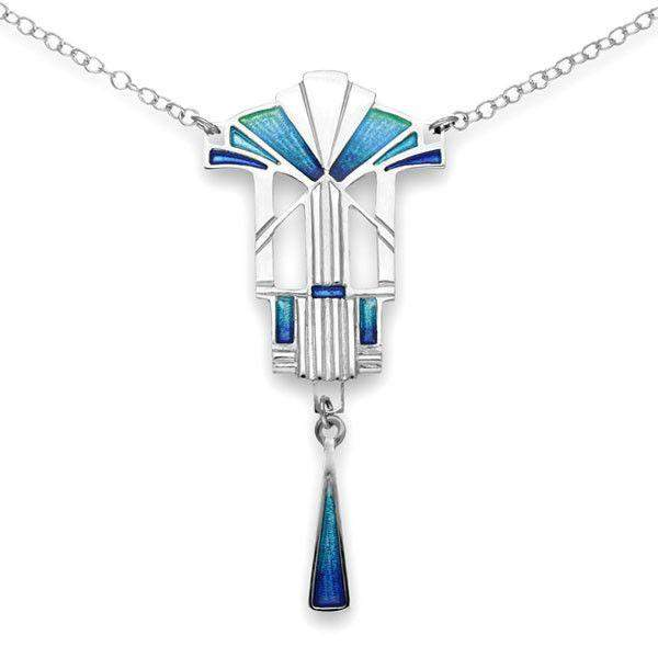 Ortak Silver And Enamel Necklace EN713-Ogham Jewellery