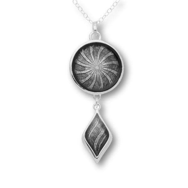 Ortak Silver and Enamel Pendant EP287-Ogham Jewellery