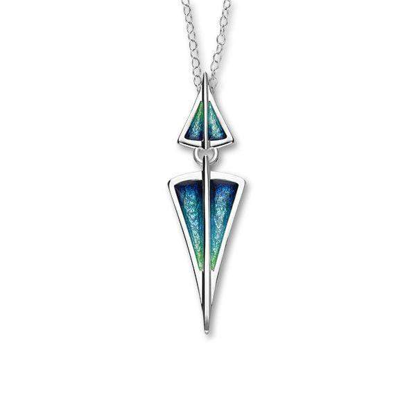 Ortak Silver And Enamel Pendant -EP360-Ogham Jewellery