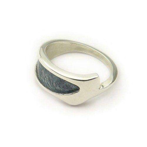 Ortak Silver and Enamel Ring ER99-Ogham Jewellery