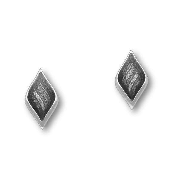 Ortak Silver and Enamel Stud Earrings EE406-Ogham Jewellery