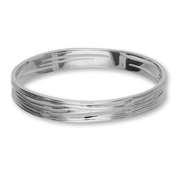 Ortak Silver Bangle BG201-Ogham Jewellery