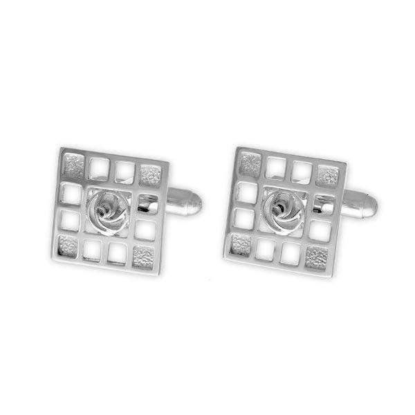 Ortak Silver Celtic Cufflinks CL92-Ogham Jewellery