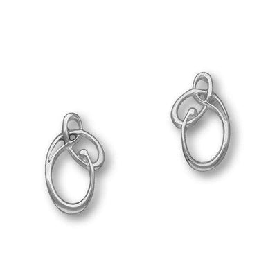 Ortak Silver Celtic Knot Stud Earrings- E1572-Ogham Jewellery