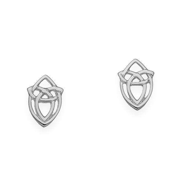 Silver Celtic Knot Stud Earrings - E1632