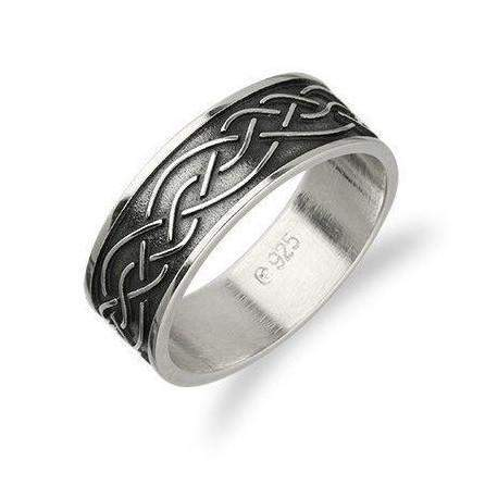 Silver Celtic Ring - R403 - Size J-Q