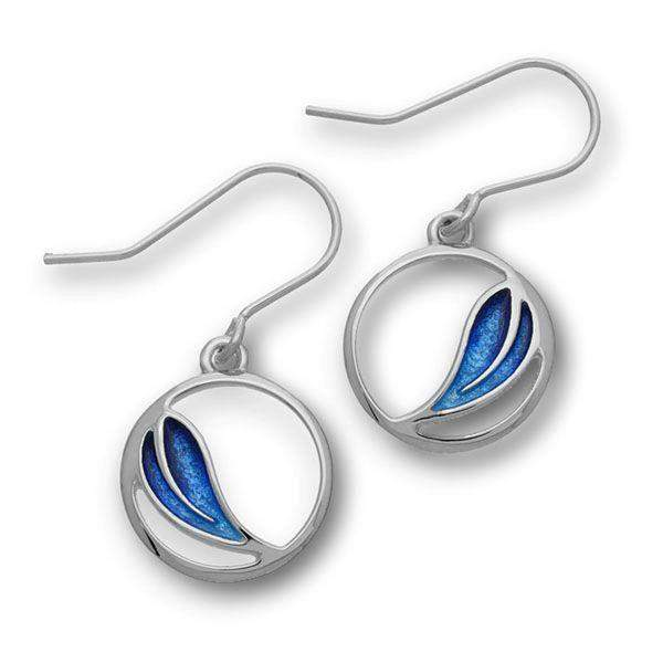 Ortak Silver & Enamel Drop Earrings -EE352-Ogham Jewellery